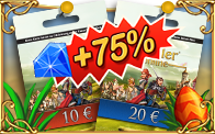 Prepaid-Karten - 75% Bonus (Frühling 2017)